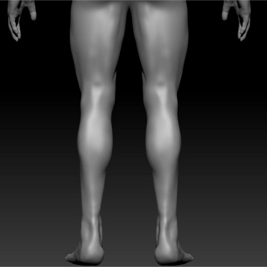 クリーンなトポロジーの人間男性ベースメッシュ3D royalty-free 3d model - Preview no. 8