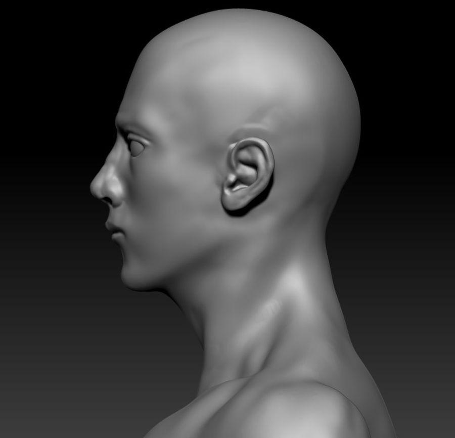 クリーンなトポロジーの人間男性ベースメッシュ3D royalty-free 3d model - Preview no. 3