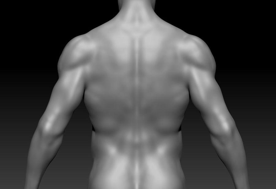 クリーンなトポロジーの人間男性ベースメッシュ3D royalty-free 3d model - Preview no. 6