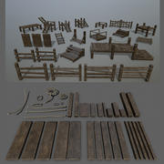 woods and ropes 3d model