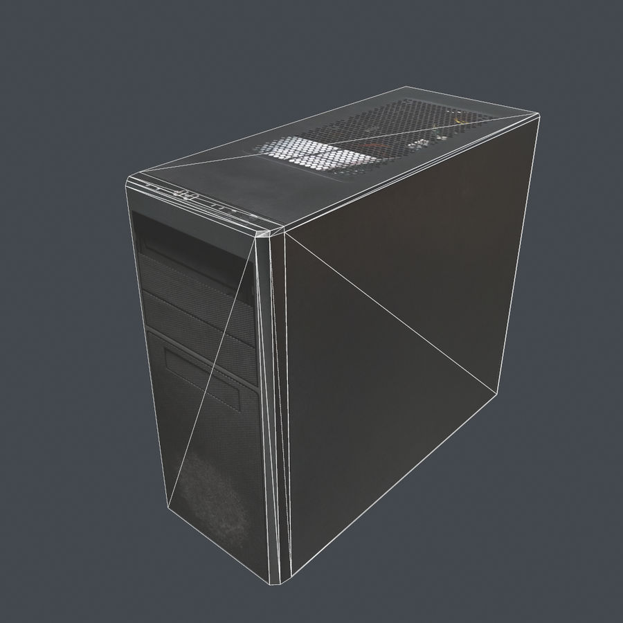 Desktop PC-dator processor royalty-free 3d model - Preview no. 12