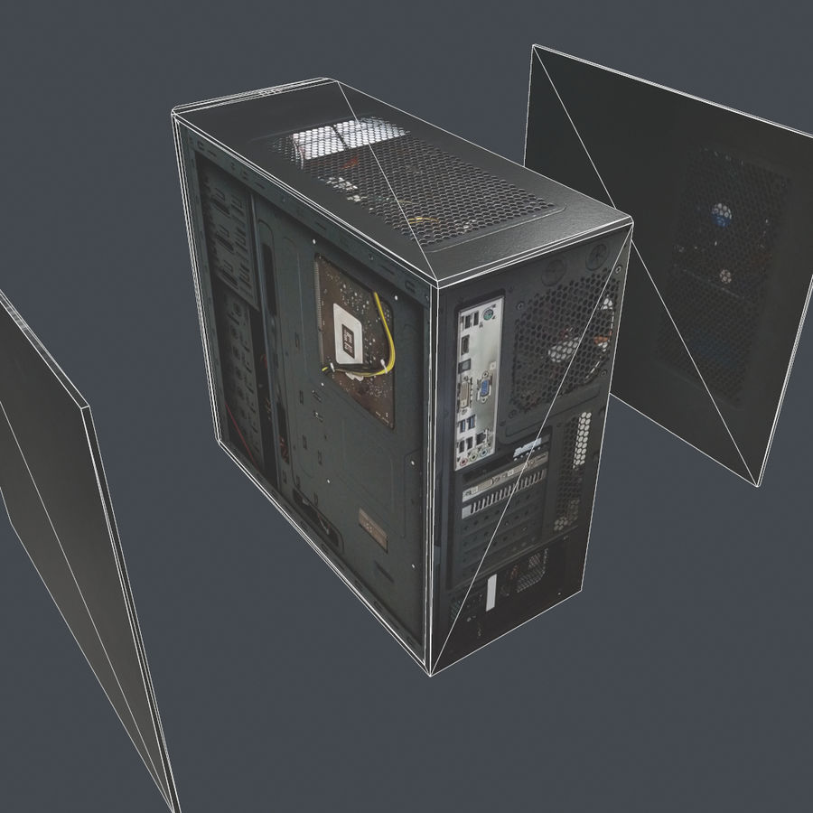 Desktop PC-dator processor royalty-free 3d model - Preview no. 11