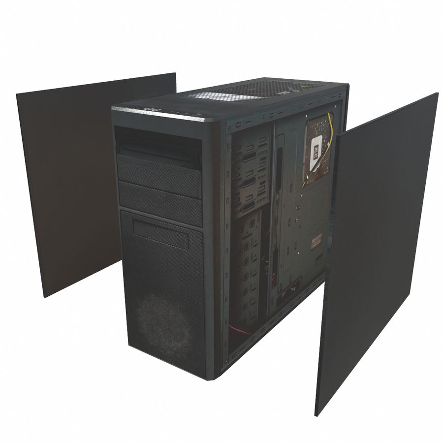 Desktop PC-dator processor royalty-free 3d model - Preview no. 3