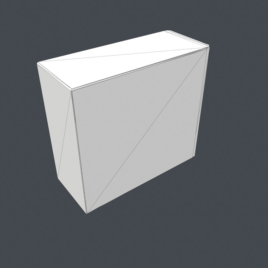Desktop PC-dator processor royalty-free 3d model - Preview no. 7