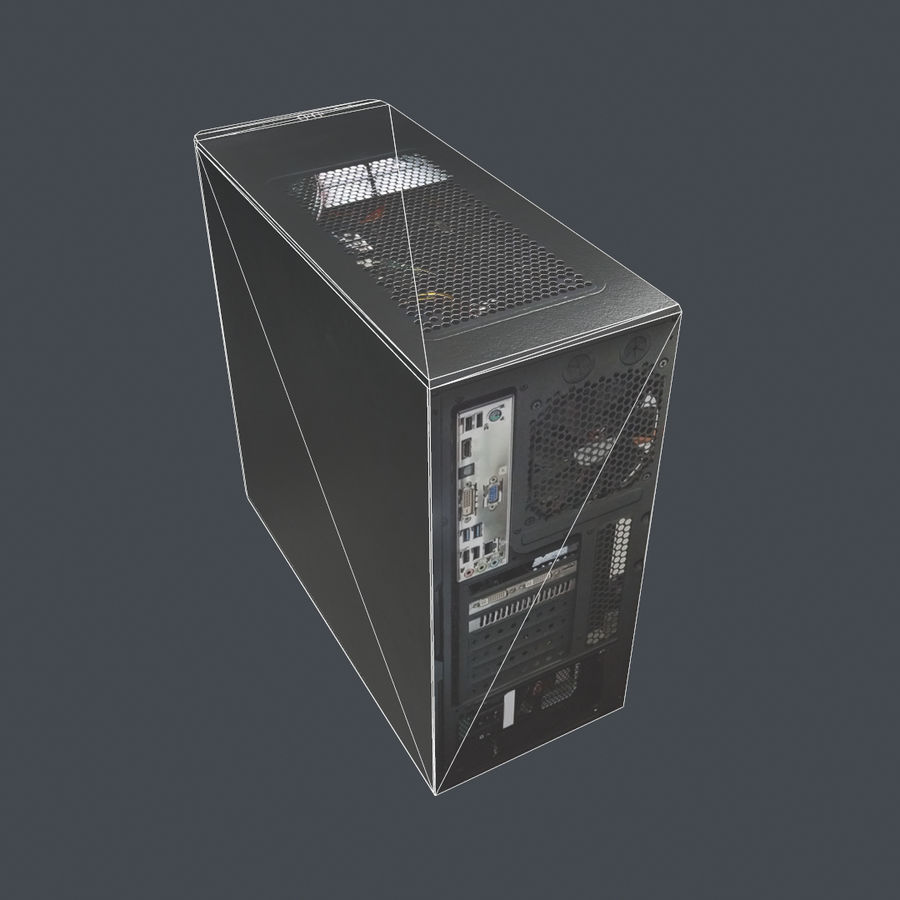 Desktop PC-dator processor royalty-free 3d model - Preview no. 10