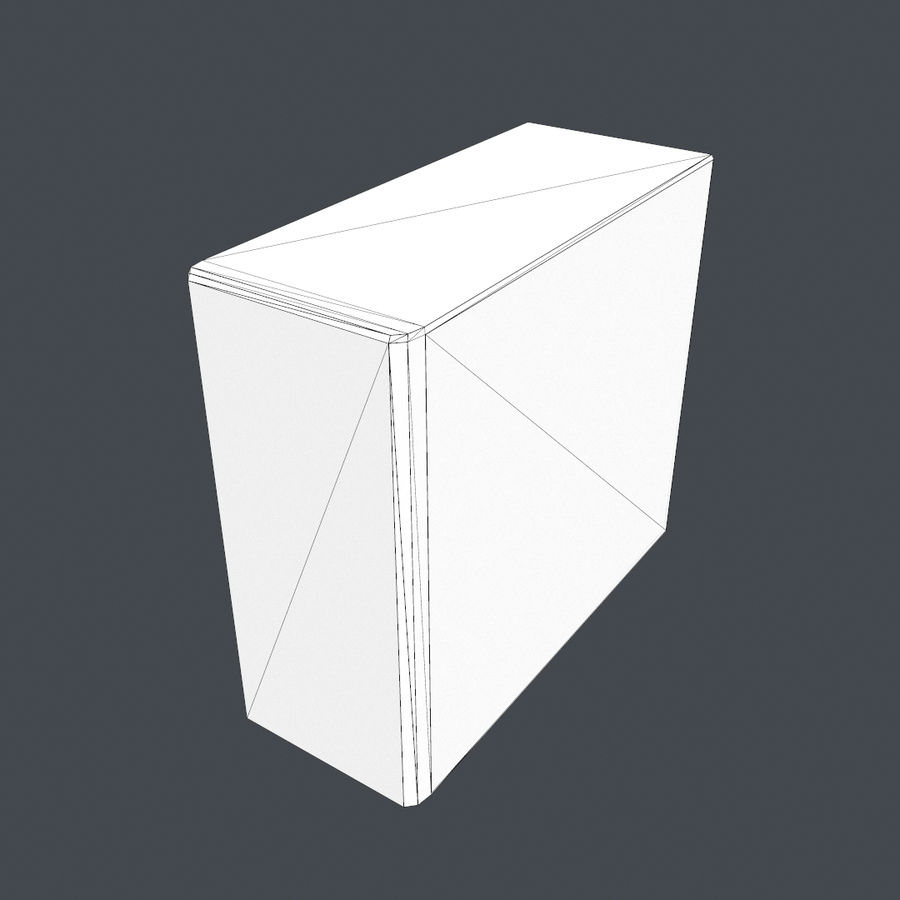 Desktop PC-dator processor royalty-free 3d model - Preview no. 8