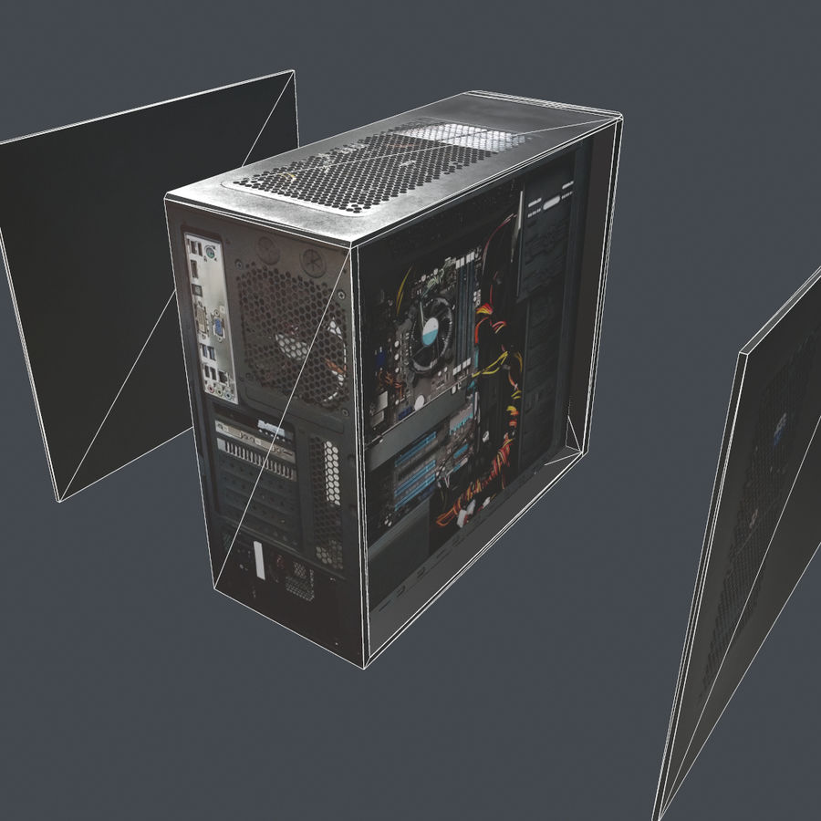 Desktop PC-dator processor royalty-free 3d model - Preview no. 9