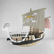 one piece  ship 3d model