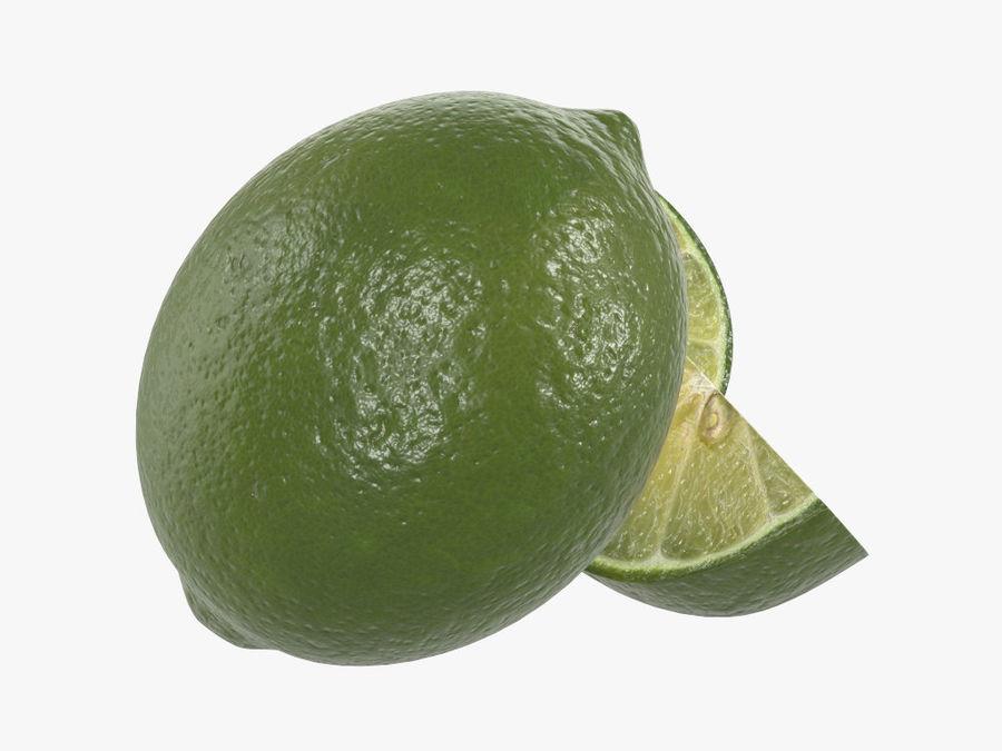 citrus limoen fruit royalty-free 3d model - Preview no. 3
