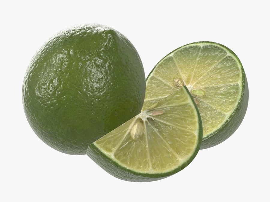 citrus limoen fruit royalty-free 3d model - Preview no. 1