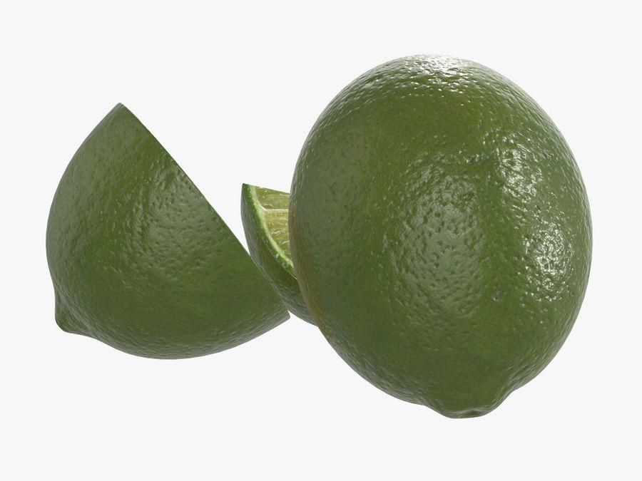 citrus limoen fruit royalty-free 3d model - Preview no. 4