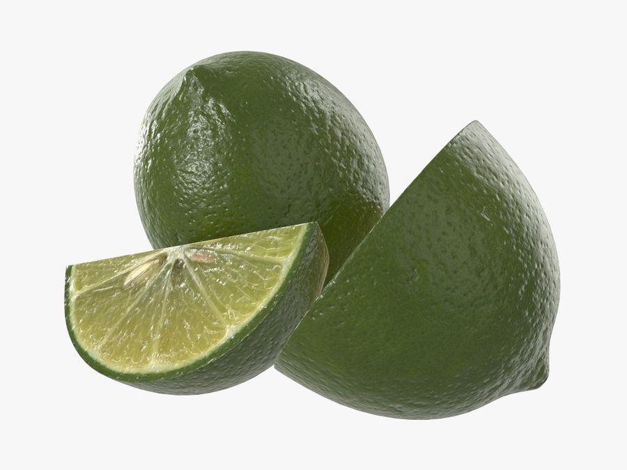 citrus limoen fruit royalty-free 3d model - Preview no. 5
