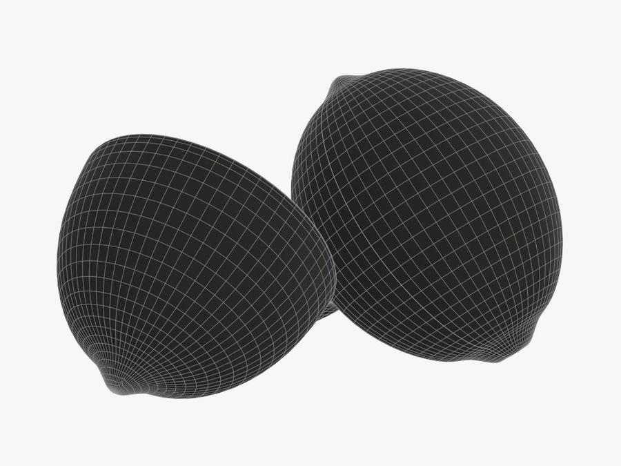 citrus limoen fruit royalty-free 3d model - Preview no. 9