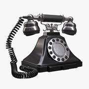 teléfono rotatorio clásico antiguo vintage PBR modelo 3d