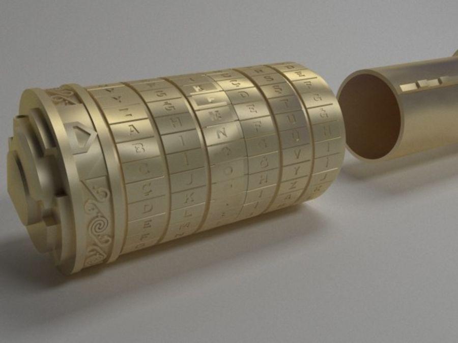 Kod Cryptex Da Vinci royalty-free 3d model - Preview no. 4