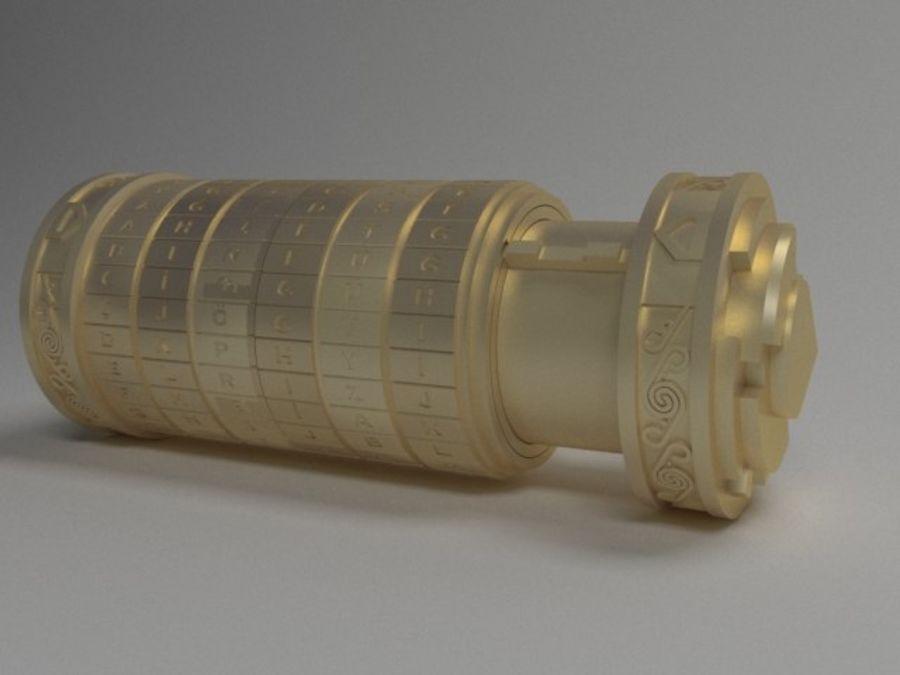 Kod Cryptex Da Vinci royalty-free 3d model - Preview no. 5