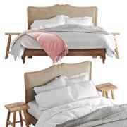 Claremont bed 3d model