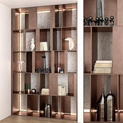 decorative partition wall 3d model