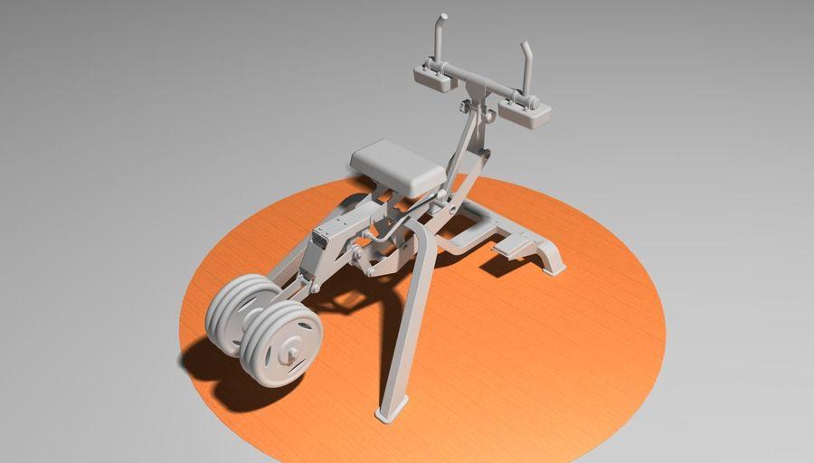 健身房坐式小腿提raise健身器 royalty-free 3d model - Preview no. 4