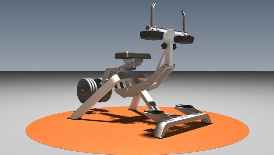 健身房坐式小腿提raise健身器 royalty-free 3d model - Preview no. 1