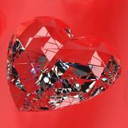 ハート型の宝石v1を設定します。 3d model
