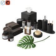 Modern Bathroom Accessories Black 3d model