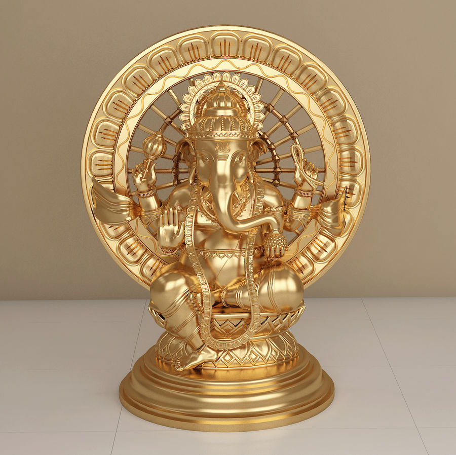 Lord Ganesha royalty-free 3d model - Preview no. 1