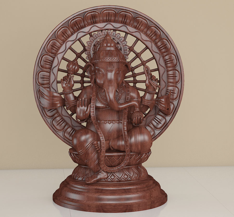Lord Ganesha royalty-free 3d model - Preview no. 2