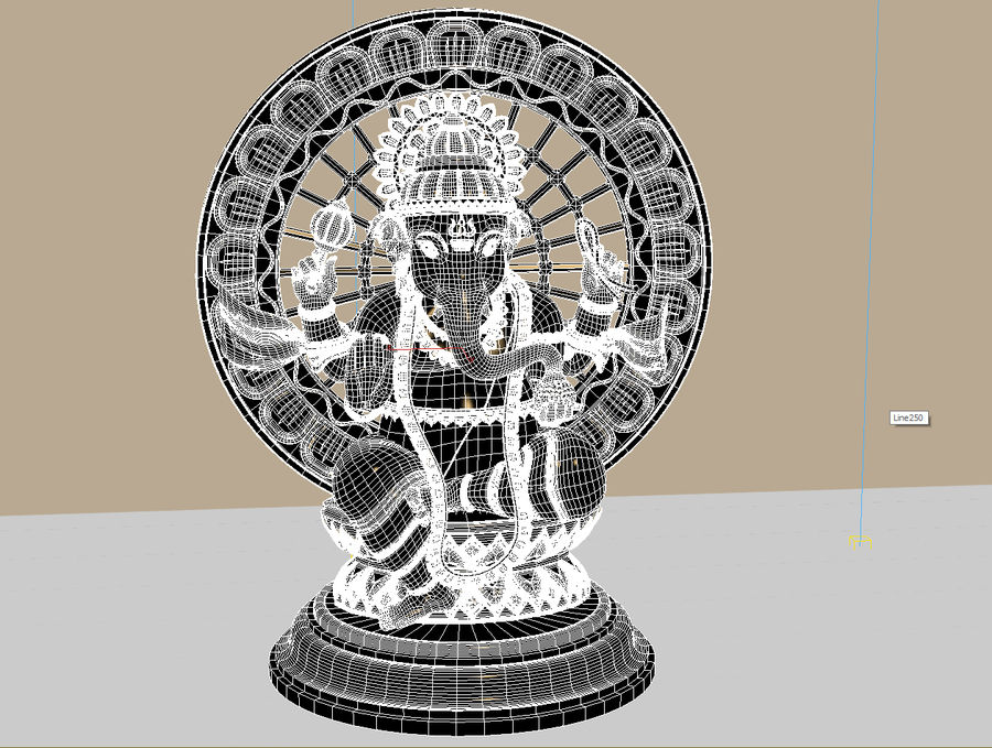 Lord Ganesha royalty-free 3d model - Preview no. 6