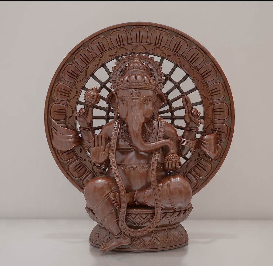 Lord Ganesha royalty-free 3d model - Preview no. 5