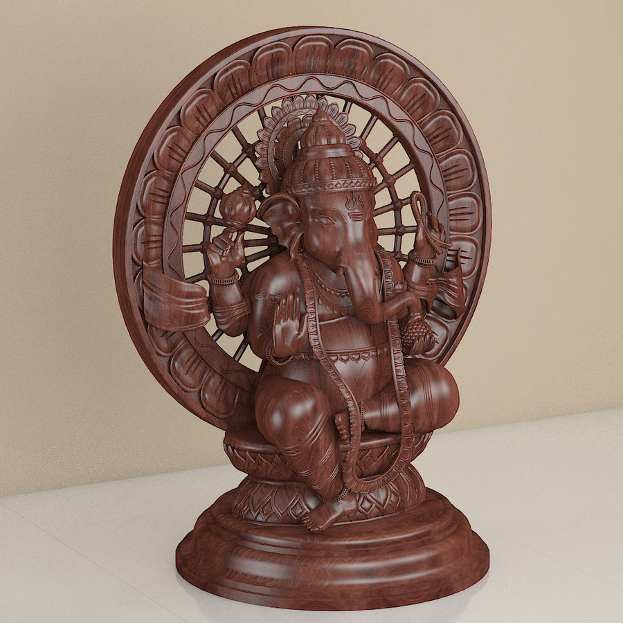 Lord Ganesha royalty-free 3d model - Preview no. 3