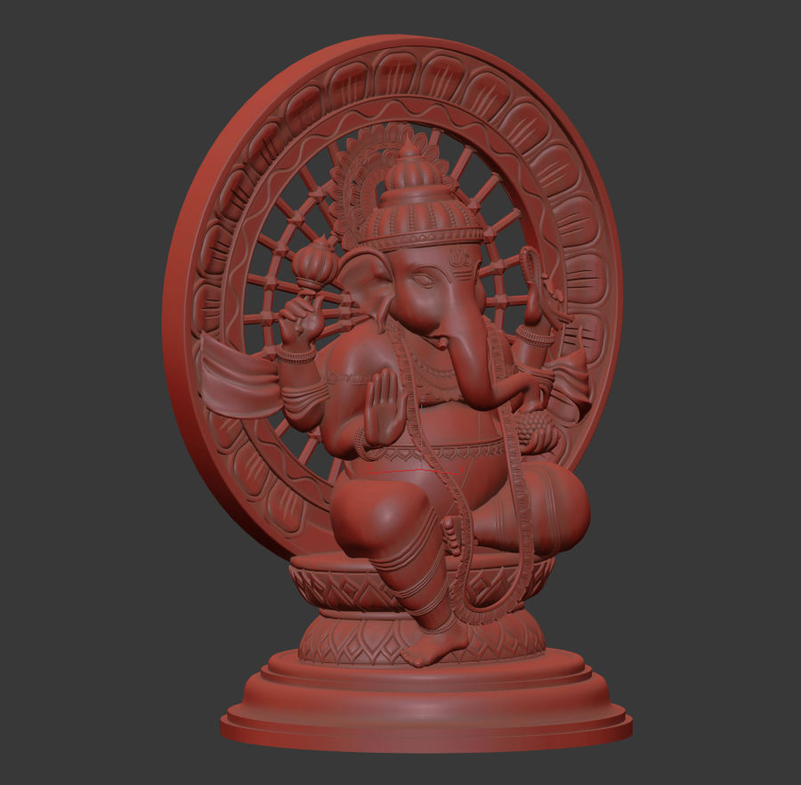 Lord Ganesha royalty-free 3d model - Preview no. 8