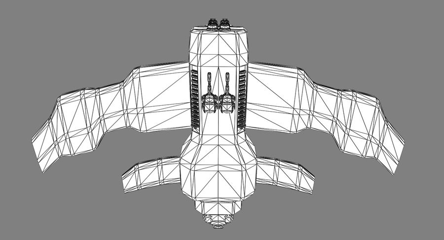 Space Fighter royalty-free 3d model - Preview no. 13