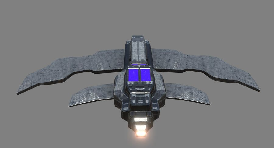 Space Fighter royalty-free 3d model - Preview no. 6