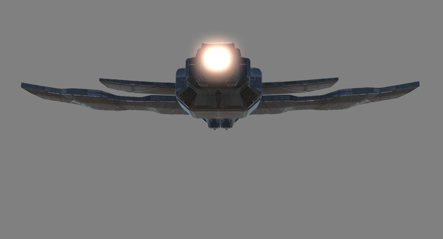 Space Fighter royalty-free 3d model - Preview no. 5