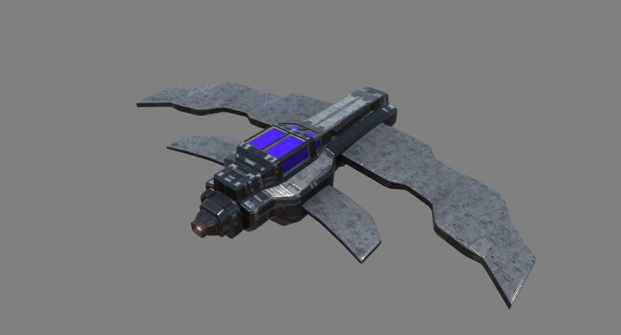 Space Fighter royalty-free 3d model - Preview no. 7