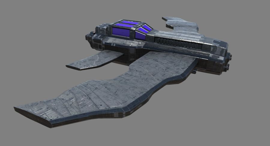 Space Fighter royalty-free 3d model - Preview no. 8