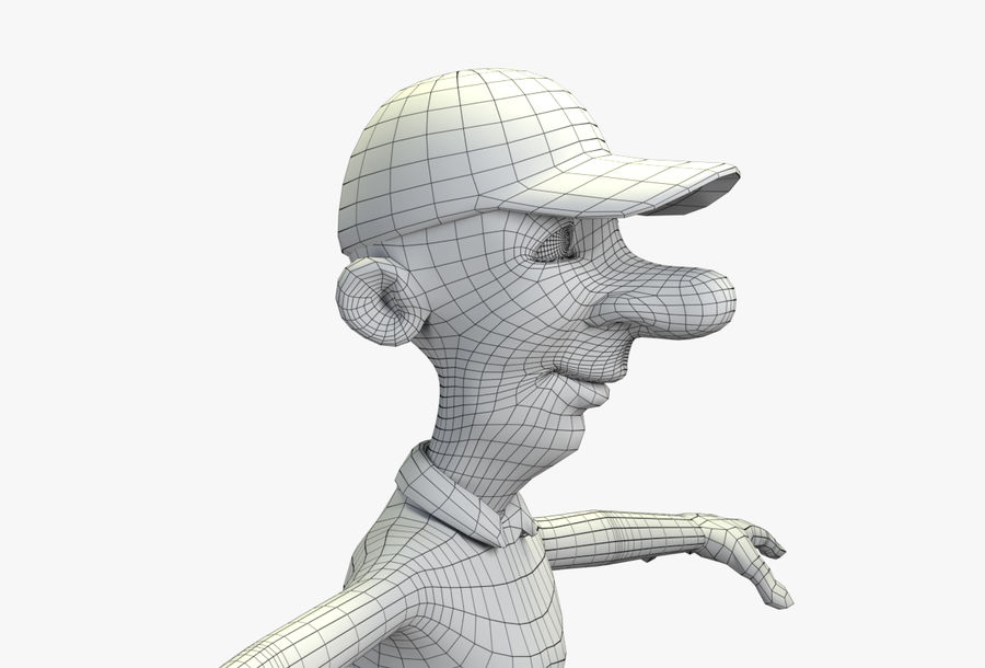 giocatore royalty-free 3d model - Preview no. 55