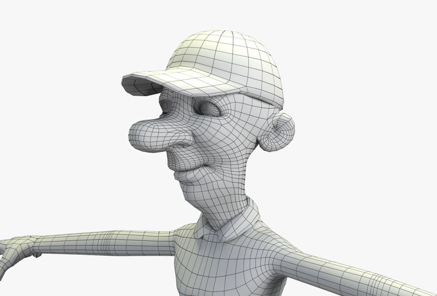 giocatore royalty-free 3d model - Preview no. 66