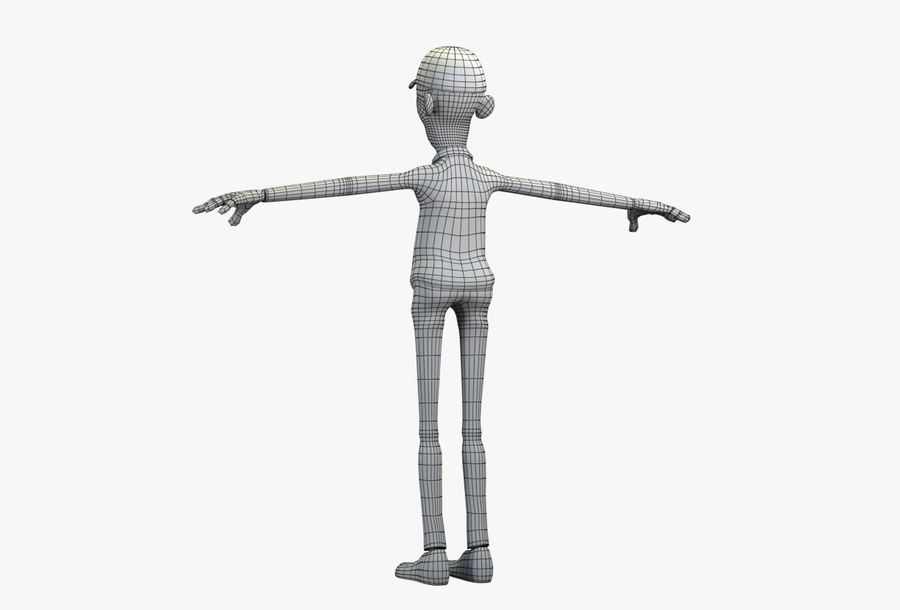 giocatore royalty-free 3d model - Preview no. 44