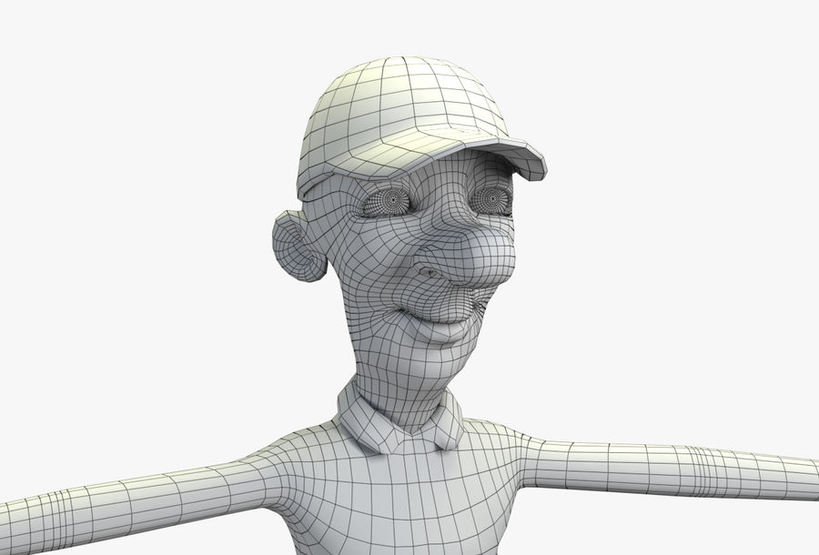 giocatore royalty-free 3d model - Preview no. 53