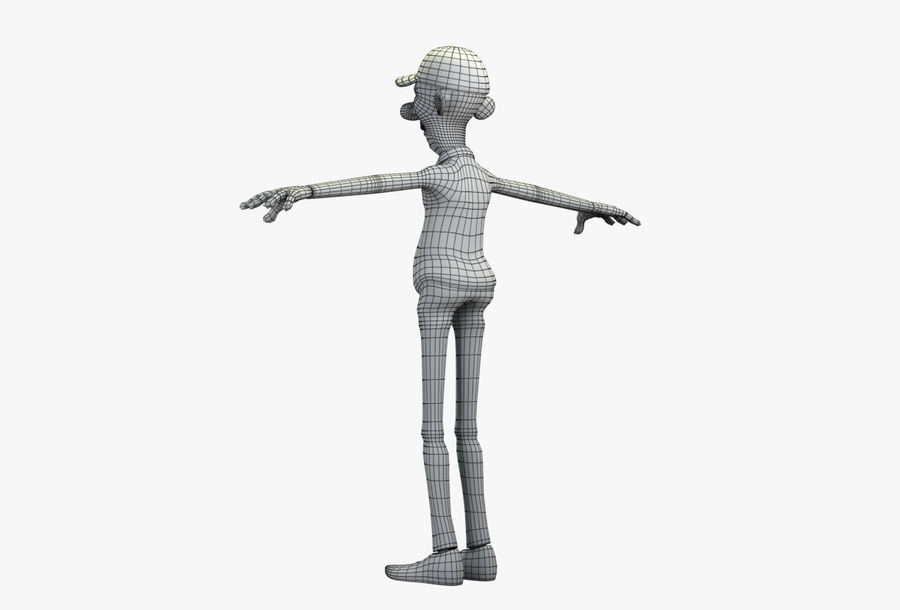 giocatore royalty-free 3d model - Preview no. 45
