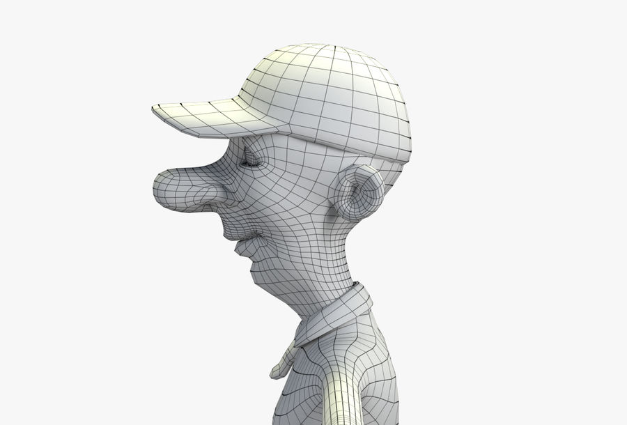 giocatore royalty-free 3d model - Preview no. 64