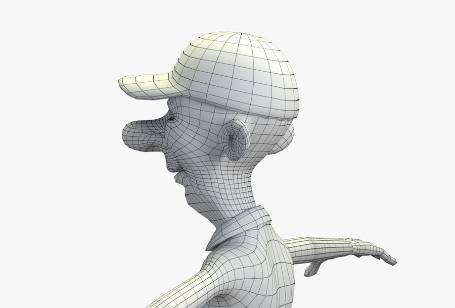giocatore royalty-free 3d model - Preview no. 63