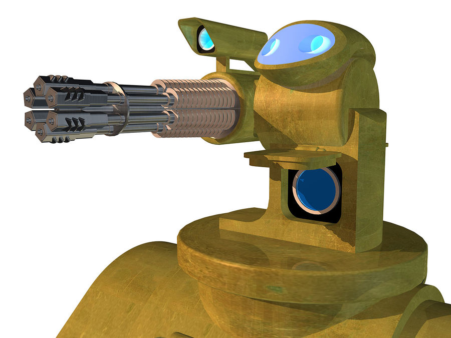 dövüş robotu royalty-free 3d model - Preview no. 3