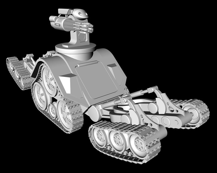 dövüş robotu royalty-free 3d model - Preview no. 9