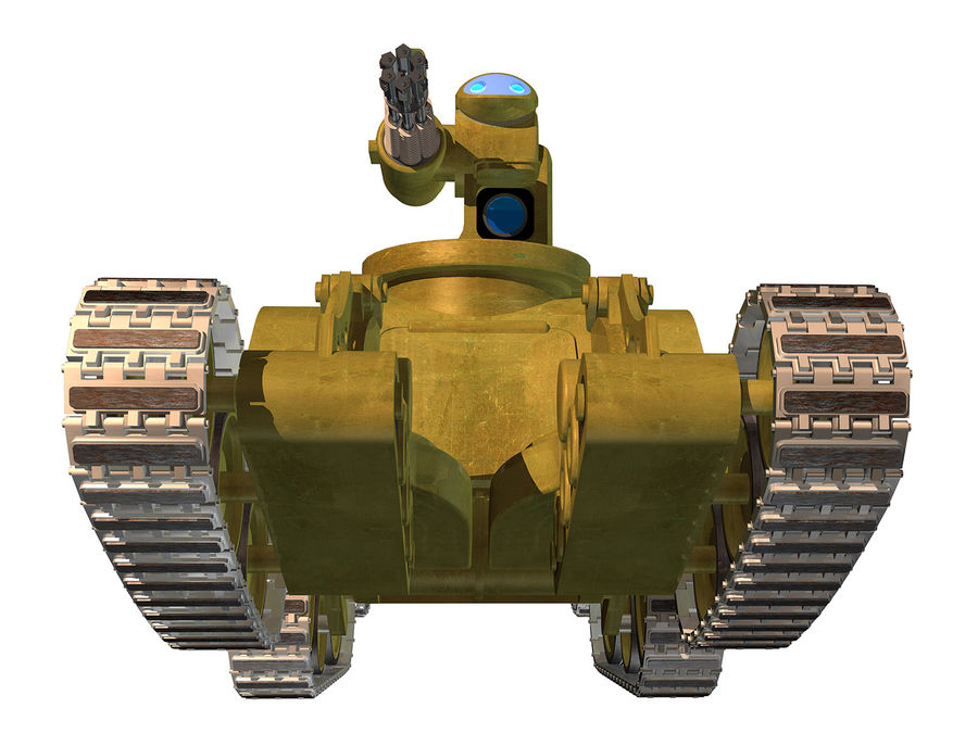 dövüş robotu royalty-free 3d model - Preview no. 4