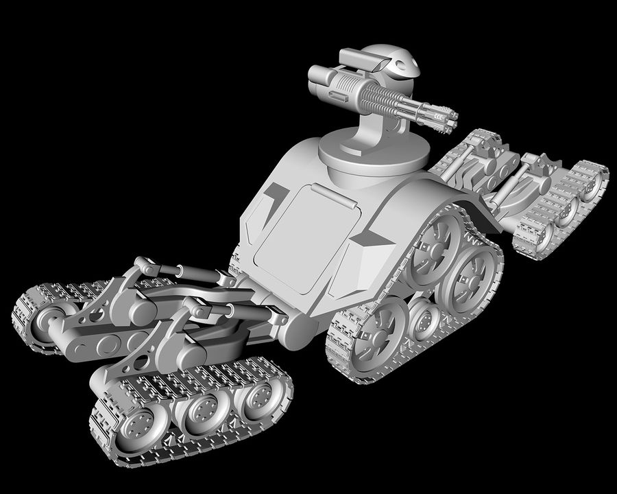 dövüş robotu royalty-free 3d model - Preview no. 10