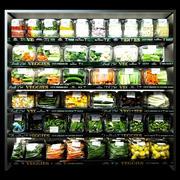 Regale mit Gemüse 3d model
