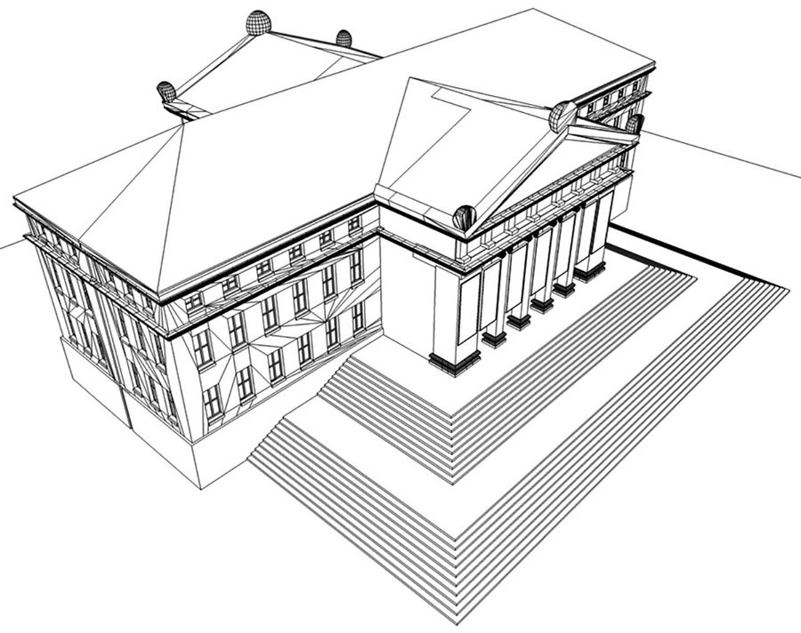 Museo royalty-free 3d model - Preview no. 16